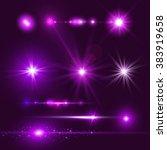 lens flare set. shining... | Shutterstock .eps vector #383919658