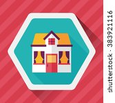 building house flat icon with... | Shutterstock .eps vector #383921116
