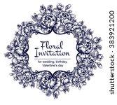 romantic invitation. wedding ... | Shutterstock . vector #383921200