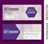 gift voucher colorful template | Shutterstock .eps vector #383921704