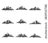 set nine of mountain icons... | Shutterstock .eps vector #383933788
