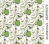 fruit green apple vector... | Shutterstock .eps vector #383935573