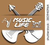 musical life in the form of... | Shutterstock .eps vector #383940964