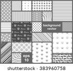 vector abstract seamless... | Shutterstock .eps vector #383960758