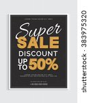 super sale with 50  discount... | Shutterstock .eps vector #383975320