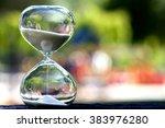 closeup hourglass clock on... | Shutterstock . vector #383976280