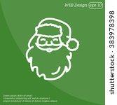 web line icon. santa claus | Shutterstock .eps vector #383978398