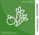 web line icon. apple and carrot ... | Shutterstock .eps vector #383985880