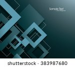blue vector background with 3d... | Shutterstock .eps vector #383987680