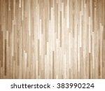 hardwood maple basketball court ... | Shutterstock . vector #383990224