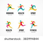 running marathon colorful... | Shutterstock .eps vector #383994844