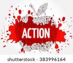 action apple word cloud concept   Shutterstock .eps vector #383996164
