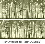 set of horizontal abstract wide ... | Shutterstock .eps vector #384006589