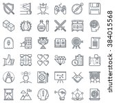 game design icon set suitable... | Shutterstock .eps vector #384015568