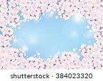 cherry blossom | Shutterstock .eps vector #384023320