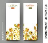 beautiful banner vector... | Shutterstock .eps vector #384025618