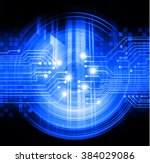 dark blue color light abstract... | Shutterstock . vector #384029086