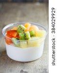 Fruit Salad Topping On Tofu ...