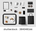 cafe branding mock up for your... | Shutterstock . vector #384048166