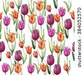 watercolor botanical... | Shutterstock . vector #384052570