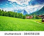 beautiful view on little... | Shutterstock . vector #384058108