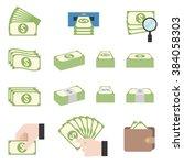 pile of cash  money stacks ...   Shutterstock .eps vector #384058303