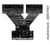 Grunge Letter Y Alphabet Symbol ...