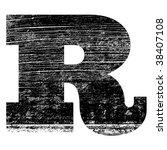 Grunge Letter R Alphabet Symbol ...