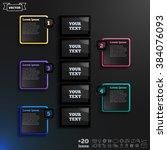 vector infographic design with... | Shutterstock .eps vector #384076093