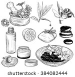 vector set of spa illustrations ... | Shutterstock .eps vector #384082444