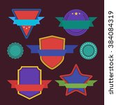 vector badge flat modern style... | Shutterstock .eps vector #384084319
