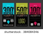 gift voucher template with... | Shutterstock .eps vector #384084346