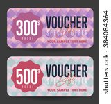gift voucher template with a... | Shutterstock .eps vector #384084364