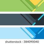 material design banner elements | Shutterstock .eps vector #384090040