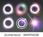 vector special light effects... | Shutterstock .eps vector #384094438