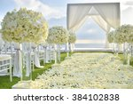 wedding set up | Shutterstock . vector #384102838