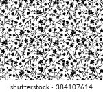 Black And White Floral Seamles...