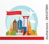 bangkok detailed silhouette.... | Shutterstock .eps vector #384107884