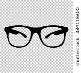 sunglasses sign. flat style...   Shutterstock . vector #384118600