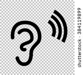 human ear sign. flat style icon ... | Shutterstock . vector #384119899