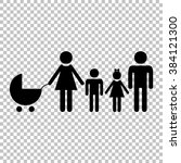 family sign. flat style icon on ... | Shutterstock . vector #384121300