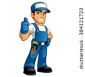 Handyman Wearing Work Clothes...