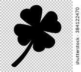 leaf clover sign. flat style...