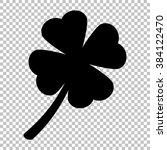 leaf clover sign. flat style...