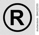 Registered Trademark Sign. Fla...