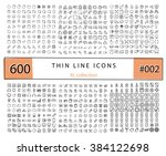 600 vector thin line icons set... | Shutterstock .eps vector #384122698
