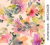Abstract Watercolor Flowers....