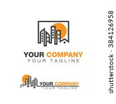 realty logo buildings | Shutterstock .eps vector #384126958