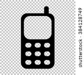 cell phone icon. flat style... | Shutterstock . vector #384128749