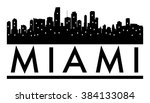 abstract skyline miami  with... | Shutterstock .eps vector #384133084